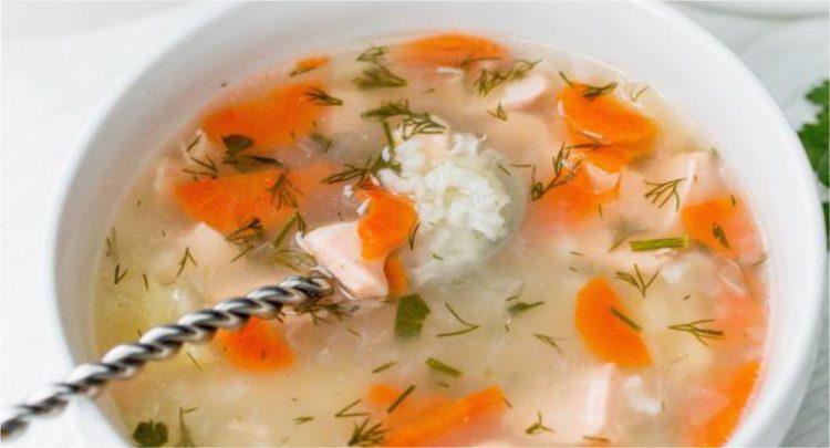 Pirinçli somon çorbası